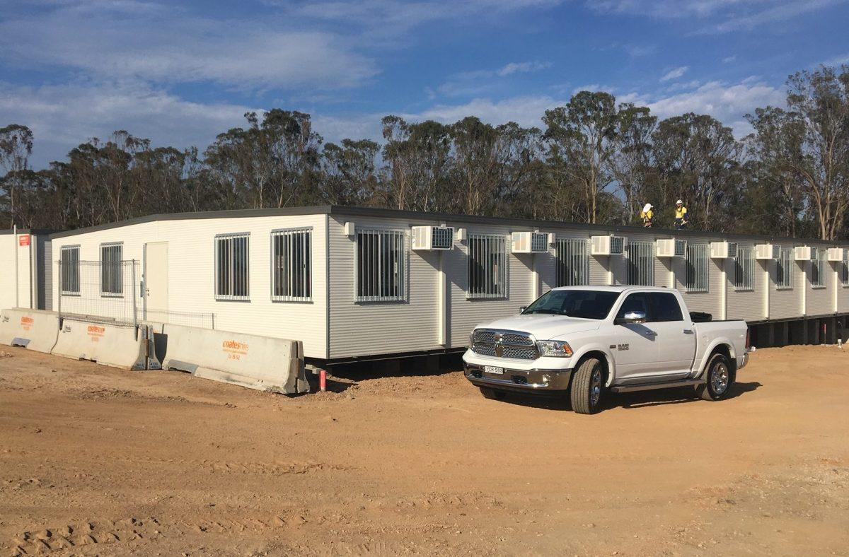 Portable mining site offices and dongas
