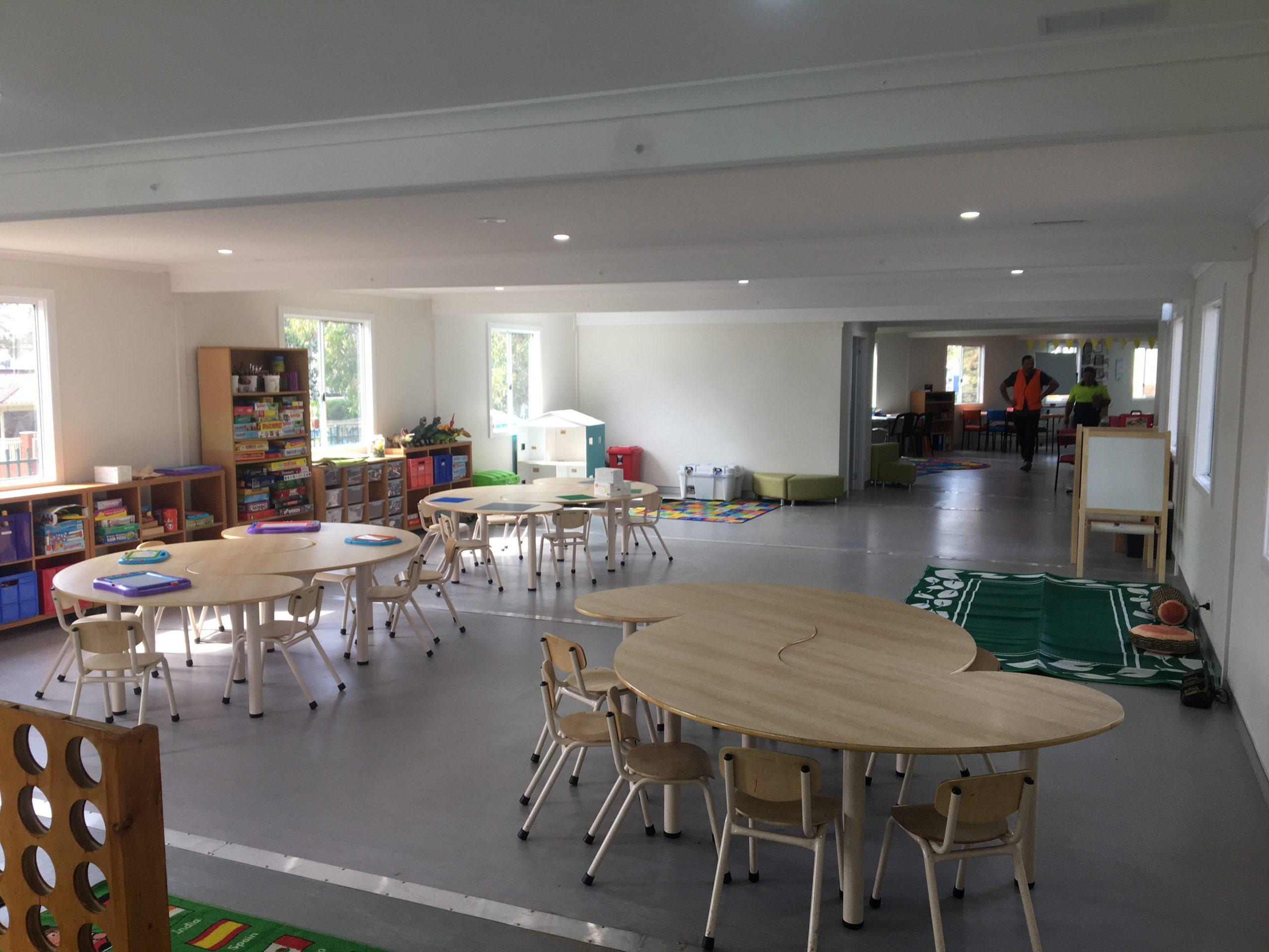 Demountable classroom interior